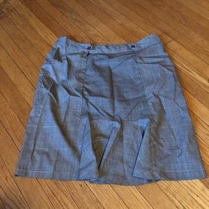 Women's Plaid Pleated Skirt - Size 12
